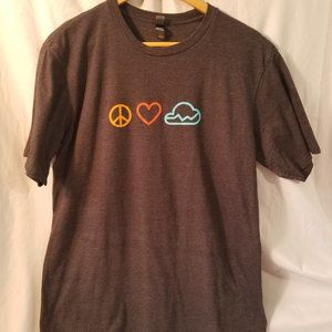 Men's New Relic Peace, Love and Data Cloud Tee